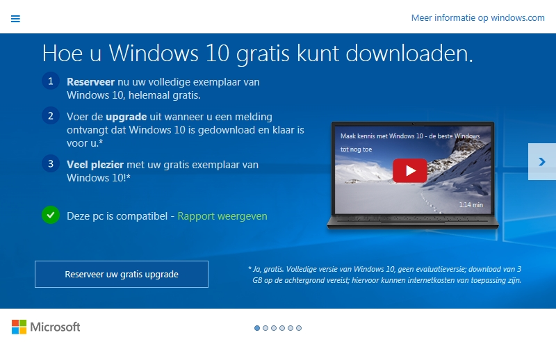 Windows 10 gratis upgrade